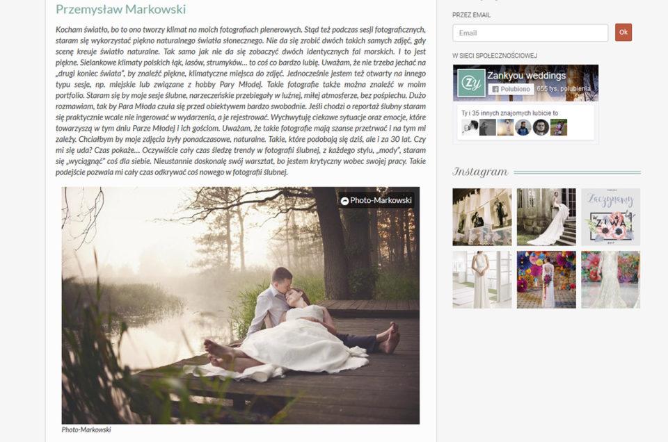 """Wyróżnienie od """"ZankYou"""" - najlepsi fotografowie ślubni w lubuskim"""
