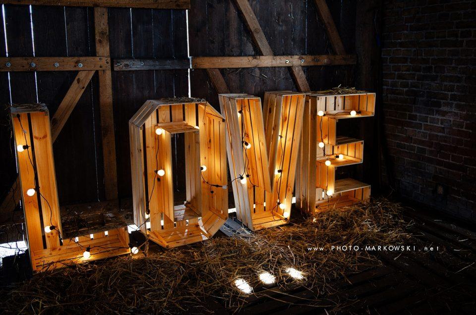 Napis Love na wynajem Gorzów Wlkp., lubuskie